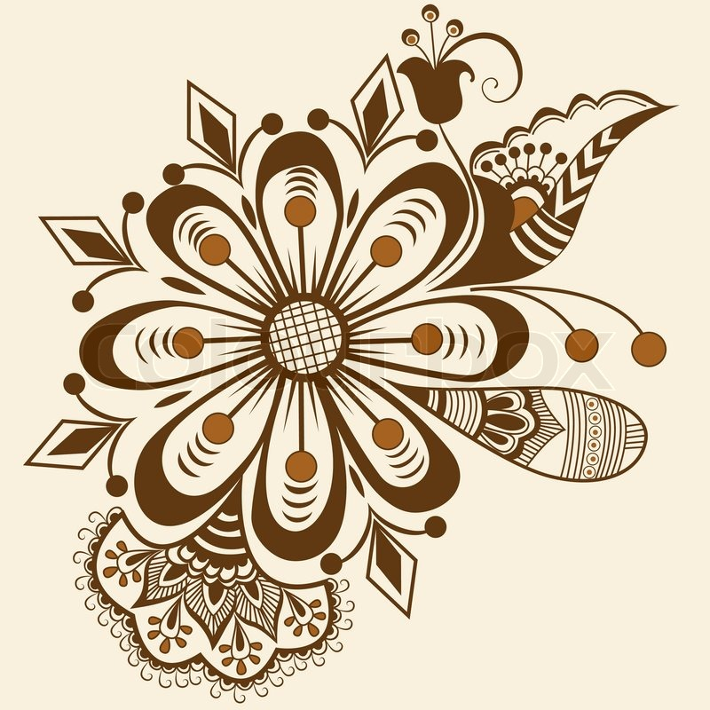 Vector Abstract Floral Elements In Stock Vector Colourbox