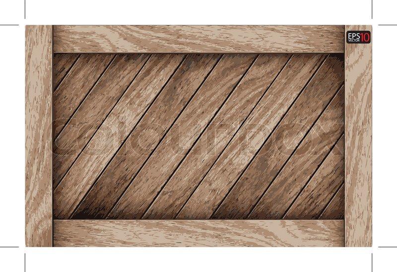 Vector wood box background | Stock Vector | Colourbox