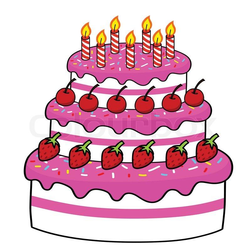 Cartoon Cake Hand Drawing Stock Vector Colourbox