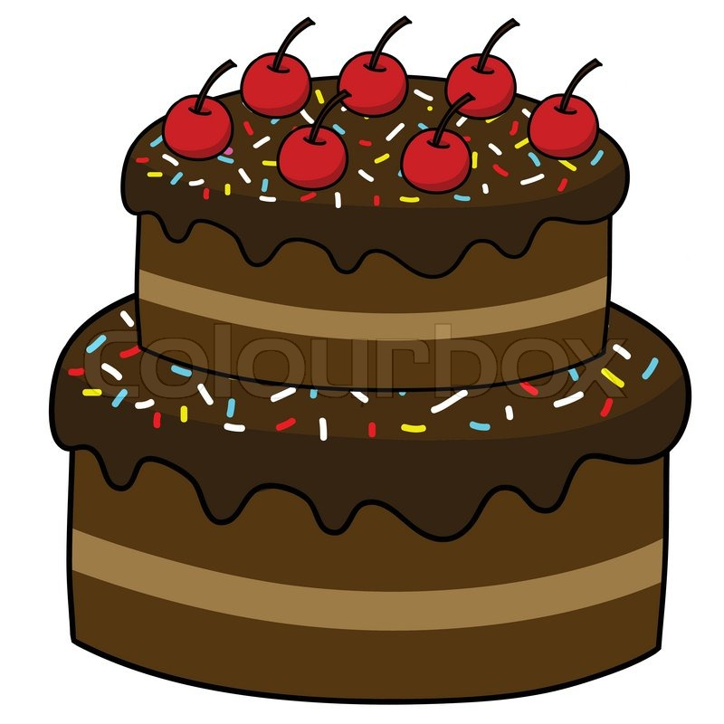 Chocolate Cake Clipart Black And White