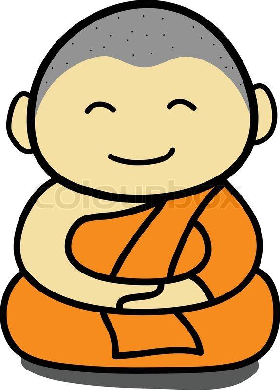Buddhist Monk cartoon ...
