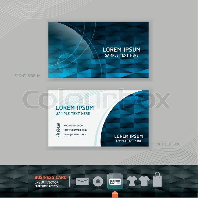 Abstract Modern Business Card Design Template Corporate Identity For Set Vector Illustration