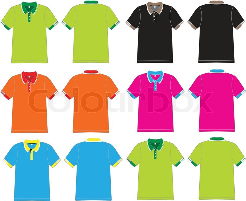 Vector t-shirt polo design | Stock Vector | Colourbox