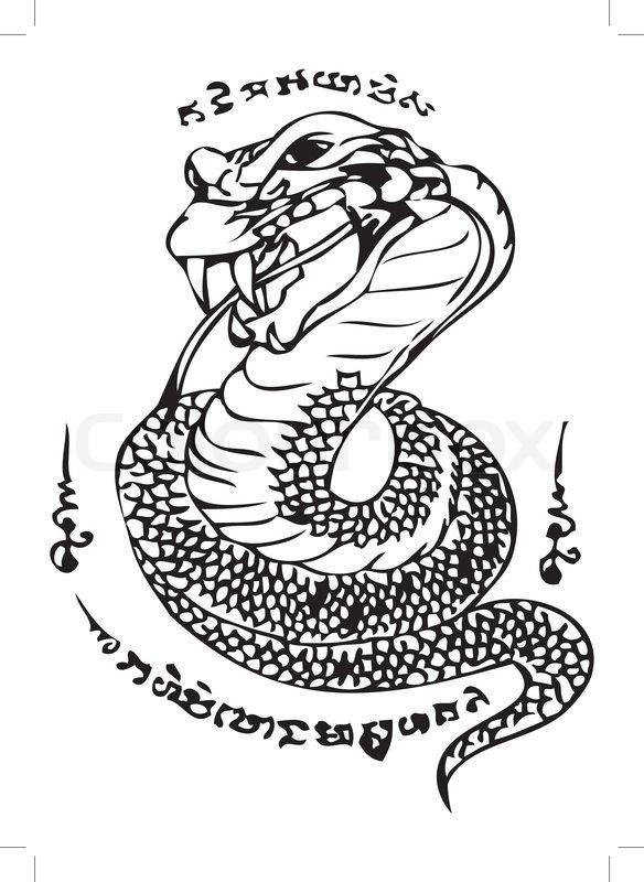 Thai Tattoo Ancient Vector Template Stock Colourbox