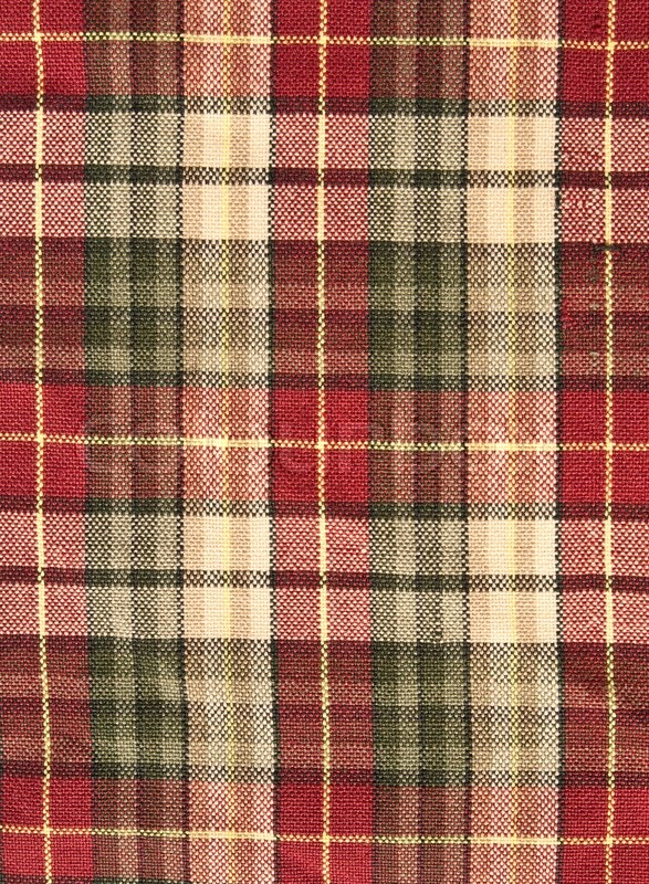 Fabric Plaid Background In Brow Stock Photo Colourbox