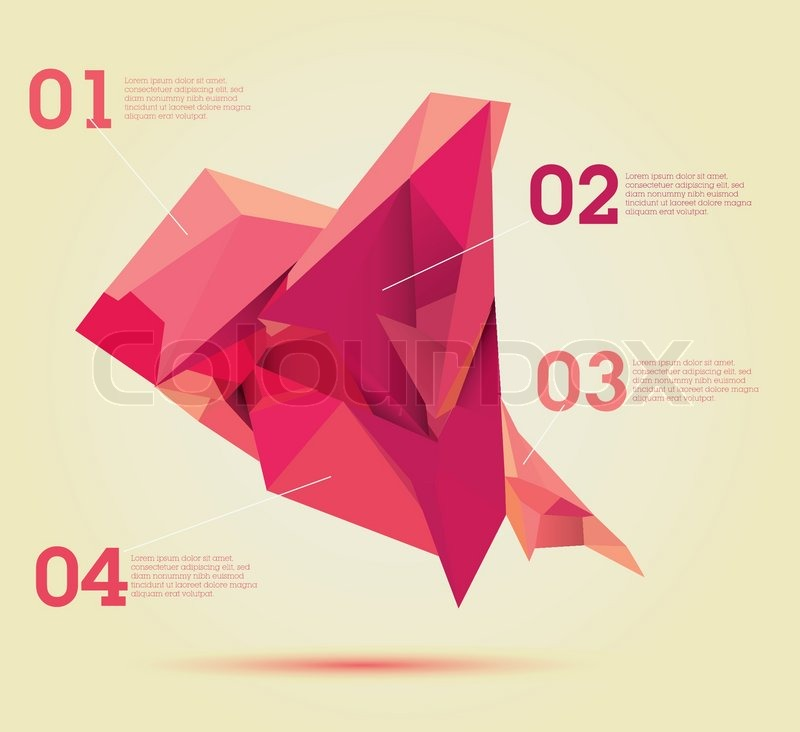 ed polygon chart infographics template design useful for