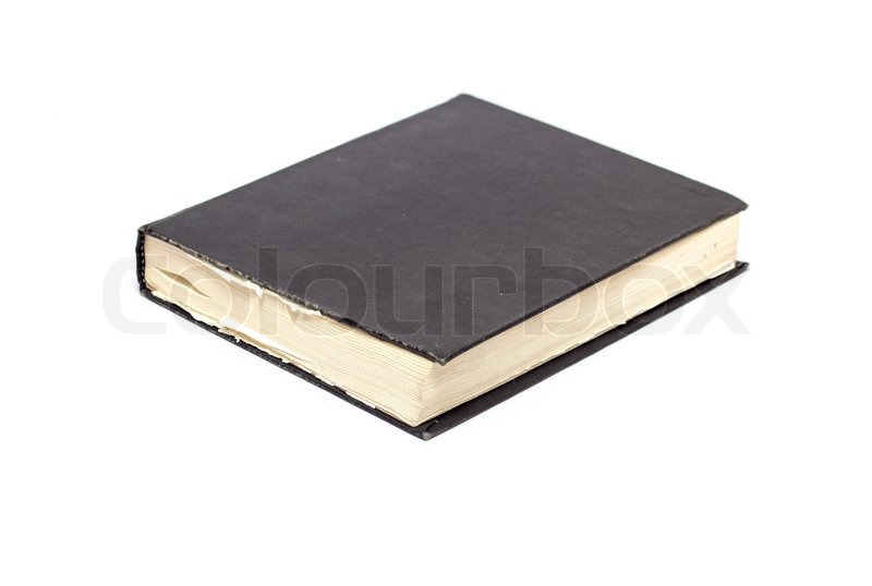 Book Cover White Xanax : Generic hard bound black book with blank cover isolated
