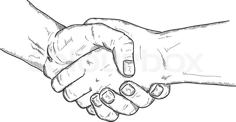 Left Hands shake | Stock vector | Colourbox