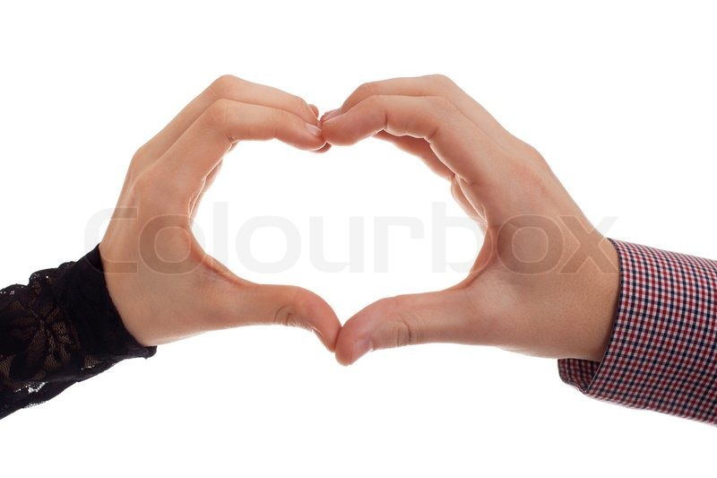 Two Hands Making Heart Symbol Stock Photo Colourbox