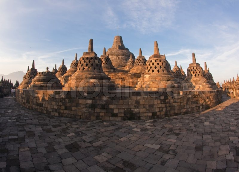 Architecture Borobudur Temple, stock photo