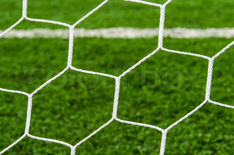 Soccer field with net texture background. | Stock Photo ...