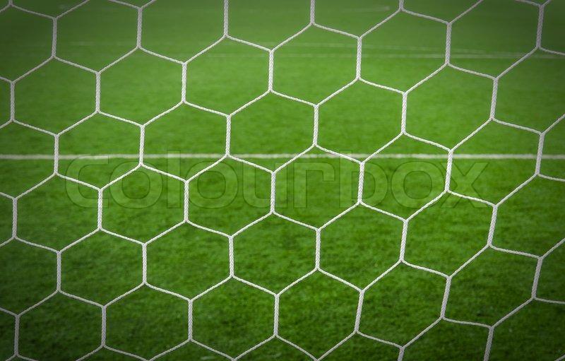 Soccer field with net ...