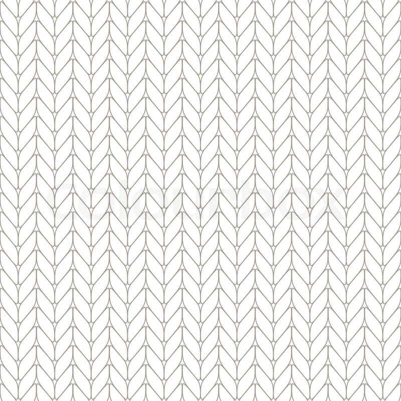 Knitting Texture Drawing : Seamless knitted background stock vector colourbox