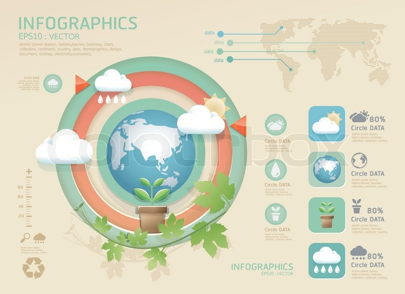 Infographic eco Modern soft color Design template / can be used ...