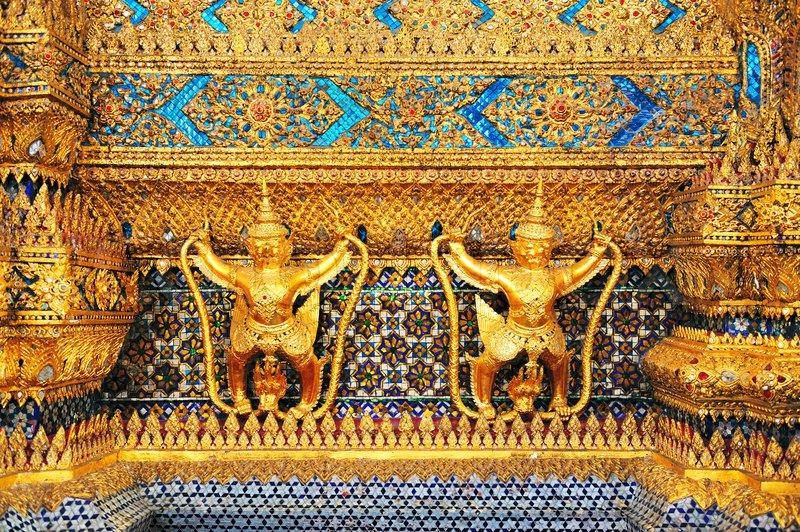Garuda in Thai royal palace, stock photo