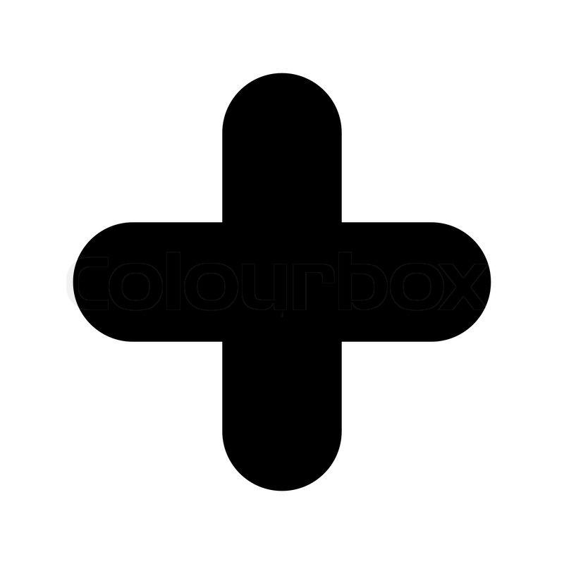 Icon - plus - black | Stock Ve...