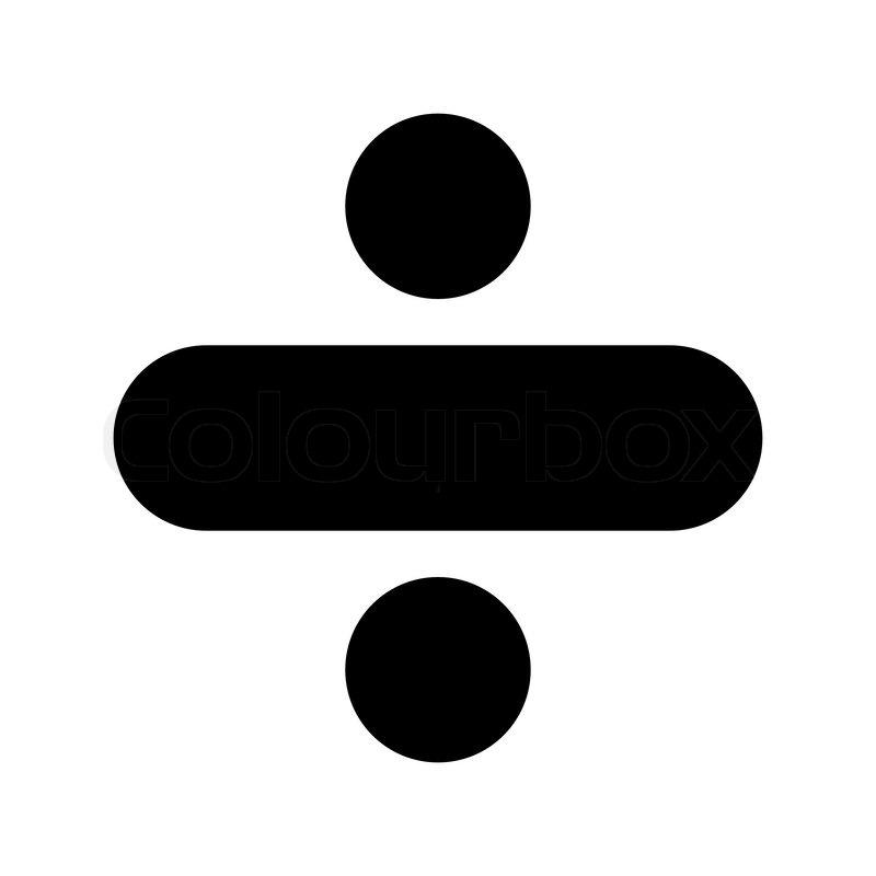 Icon Minus Black Stock Vector Colourbox