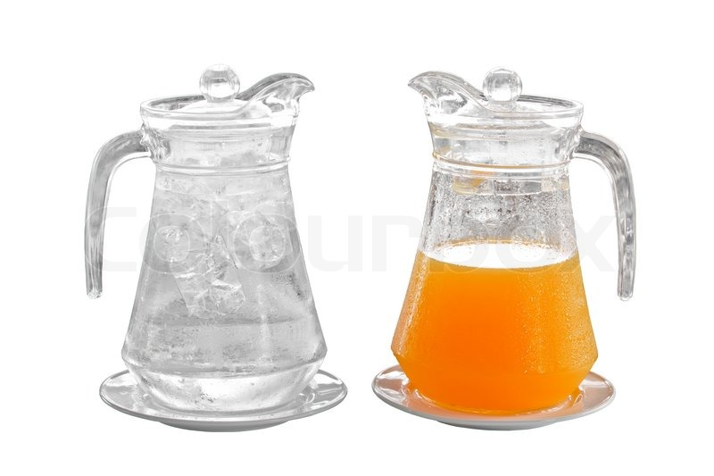 Orange Juice And Water In Pitcher On Plate Image 5704479 on Us My Healthy Plate