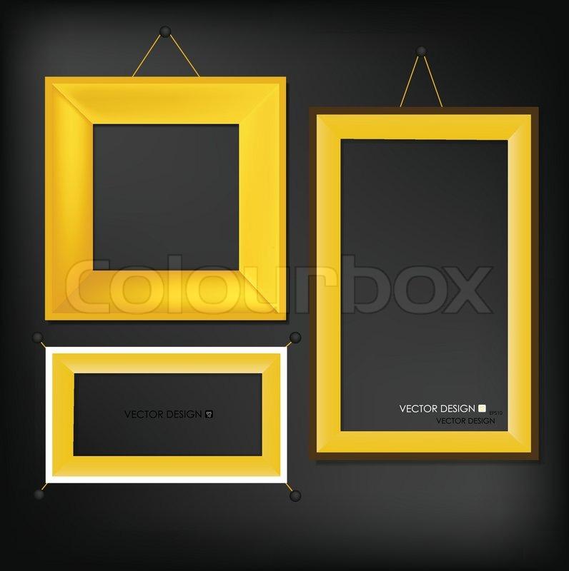 The modern frames on the wall, vector illustration | Stock Vector ...