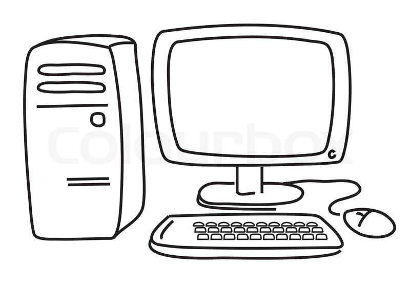 vector computer p u00e5 hvid