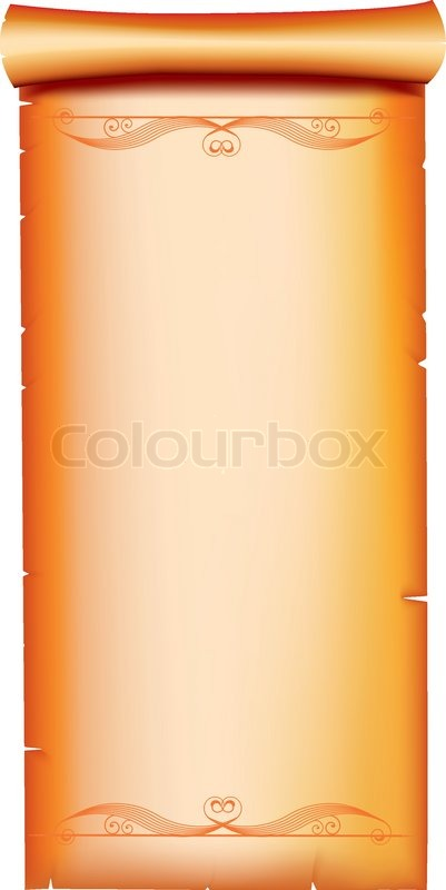 Old Paper Scroll With Vignettes For Stock Vector