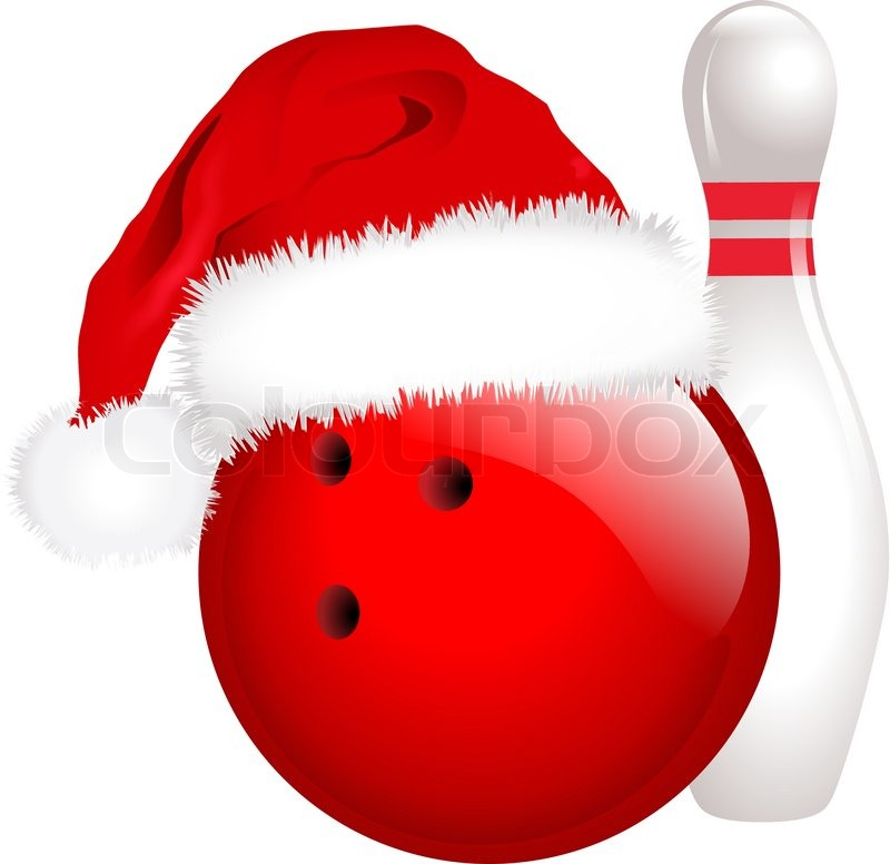 christmas bowling stock vector colourbox