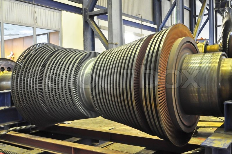Steam Turbine Of Coal Thermal Power Plant Stock Photo
