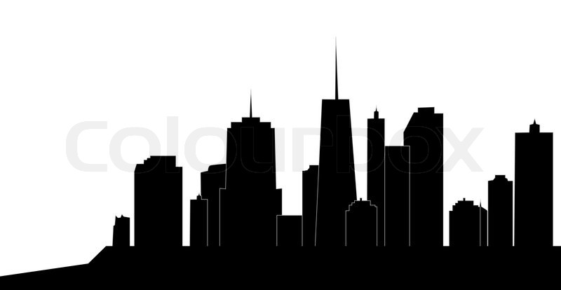 vector illustration of cities silhouette stock vector colourbox rh colourbox com city building silhouettes vector city silhouette vector png