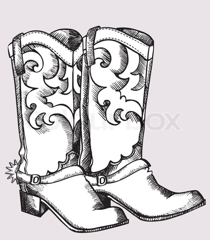 Cowboy Boots Vector Graphic Image Stock Vector Colourbox