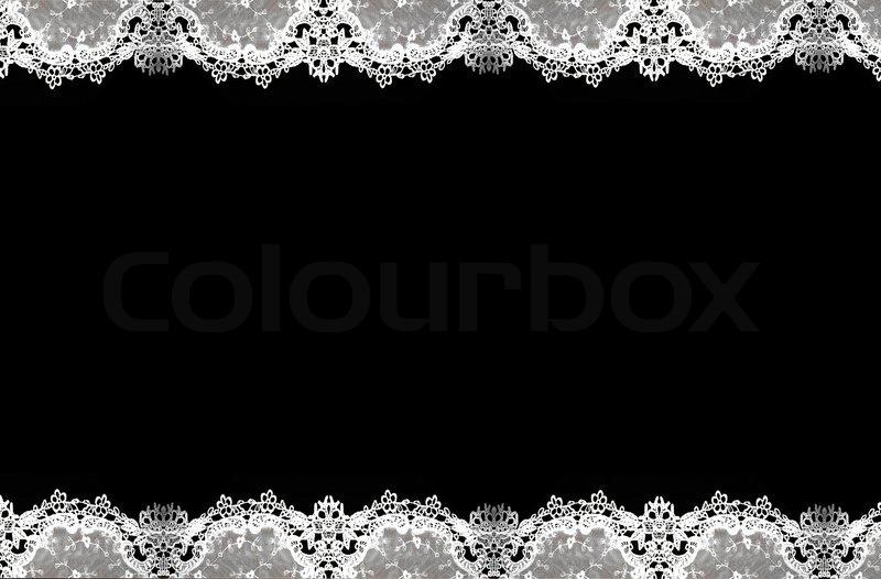 White Lace Pattern Isolated Ona ...