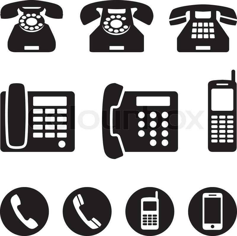 phone icons vector illustration stock vector colourbox rh colourbox com vector phone icon ai vector phone icon free download