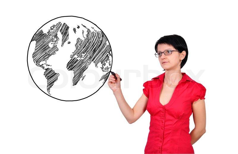 Zeichnen Erde Stockfoto Colourbox