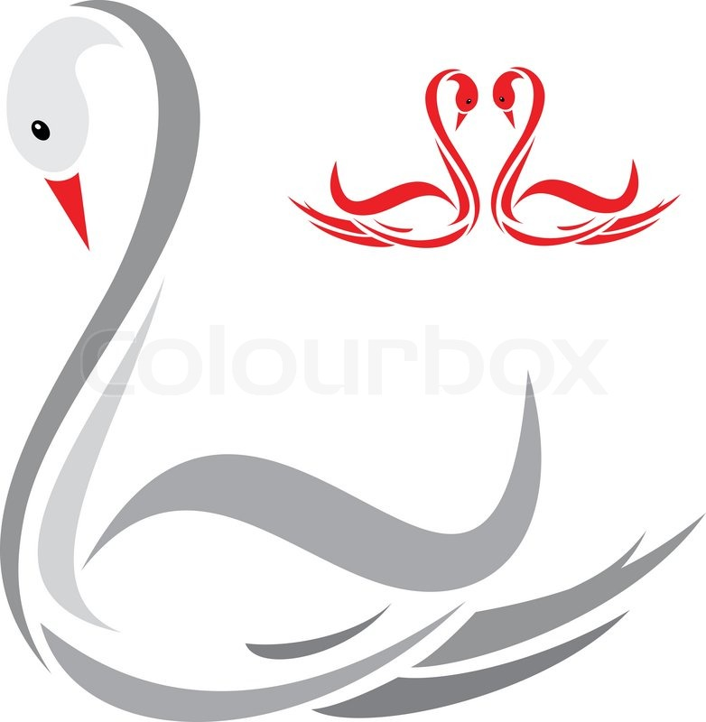 vector image of an swans stock vector colourbox