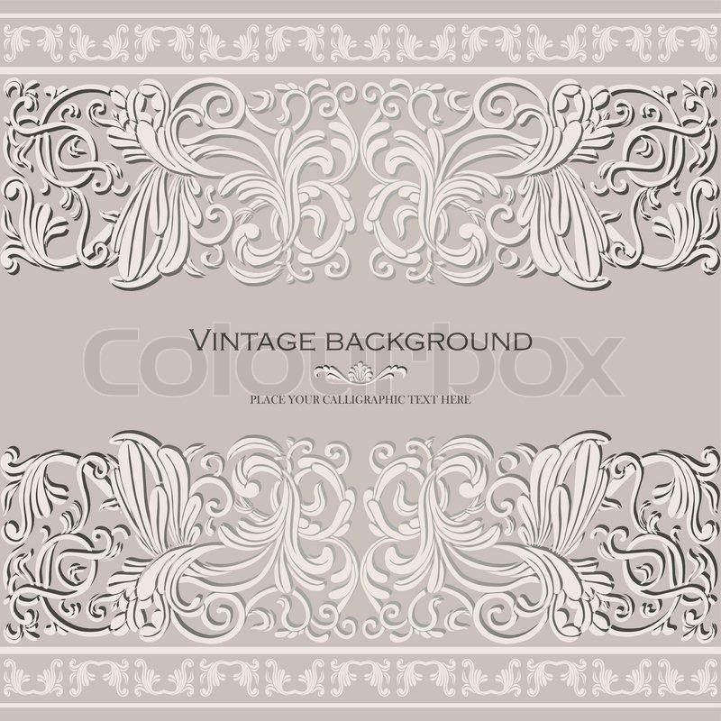 Vintage, Eleganten Hintergrund , Hochzeit Luxus Karte , Antike , Victorian  Floralen Ornament, Barocken Rahmen , Schöne Einladung , Im Alten Stil ,  Kunstvoll ...