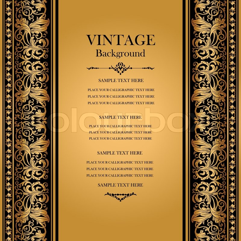 Vintage, elegant background, antique, victorian gold ...
