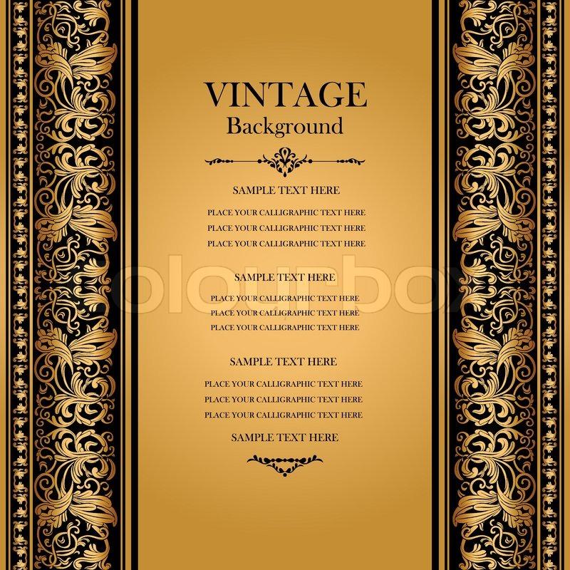 Vintage, elegant background, antique, victorian gold ...