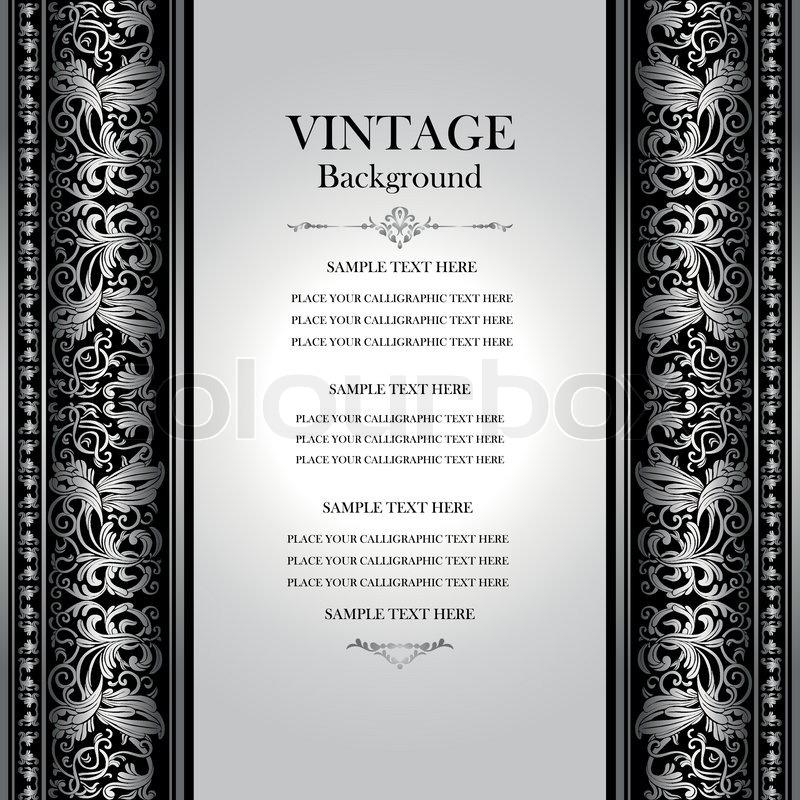 Vintage Elegant Background Antique Victorian Silver