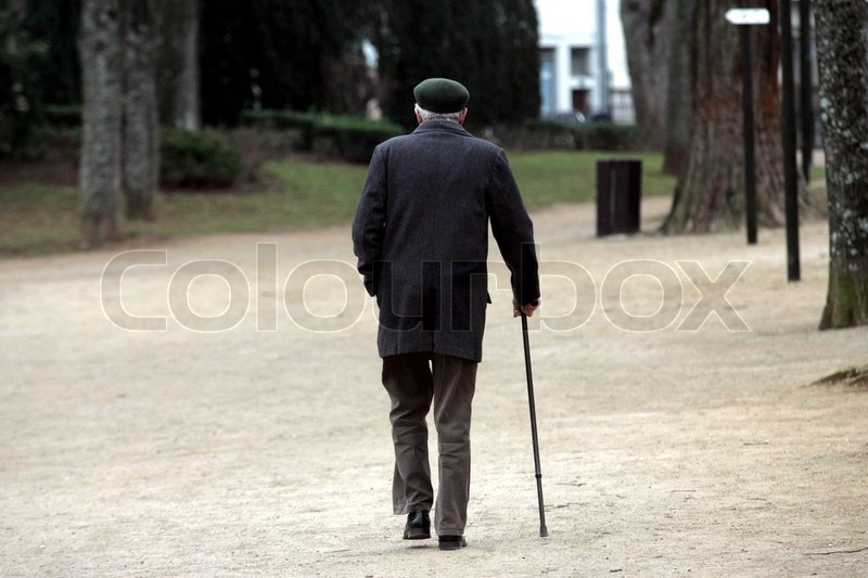 elderly man walking - photo #37