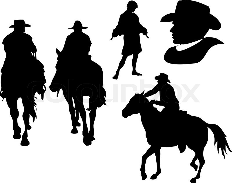vector cowboy set stock vector colourbox