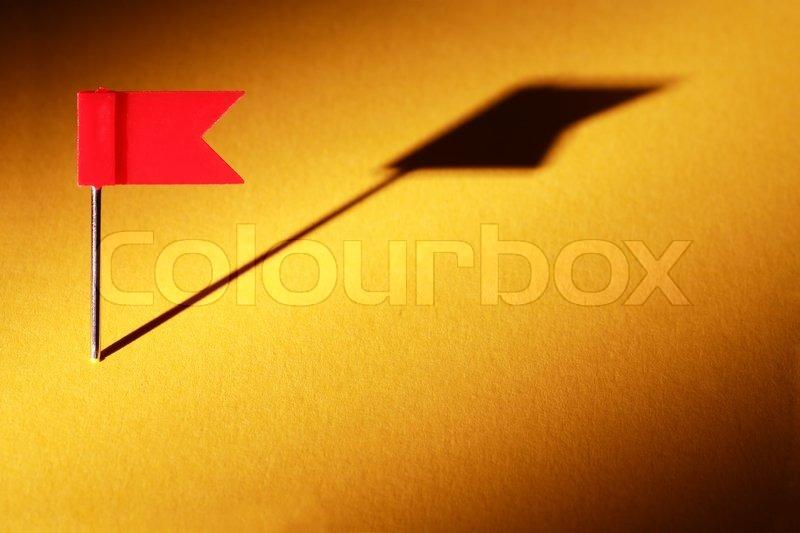 Red Flag Thumbtack, stock photo