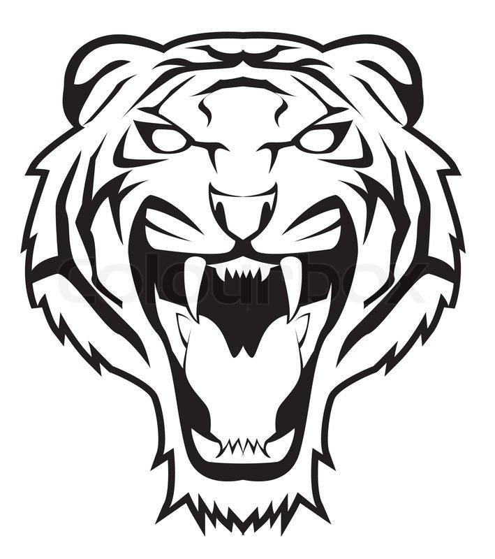 Tiger head logo design - photo#32