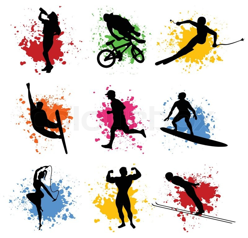 sports silhouettes stock vector colourbox rh colourbox com sports vector free sports vector free