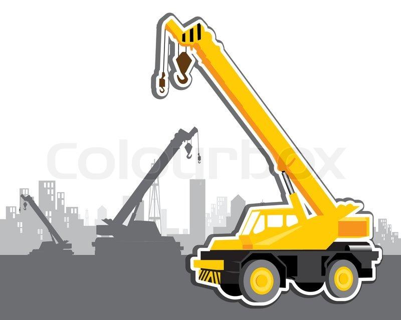 Vector mobile crane | Stock Vector | Colourbox