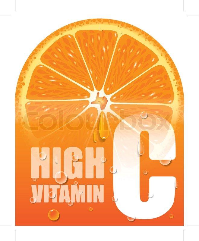 Orange High Vitamin C Vector Stock Vector Colourbox