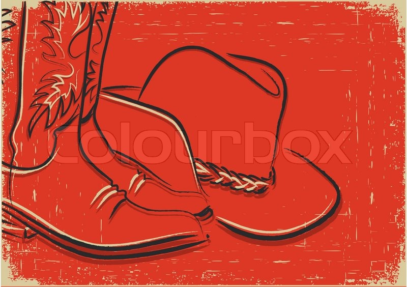 Cowboy Hat And Boots Background Cowboy Boots And Western Hat