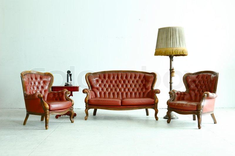 Victorian Sofa Set Stock Photo Colourbox