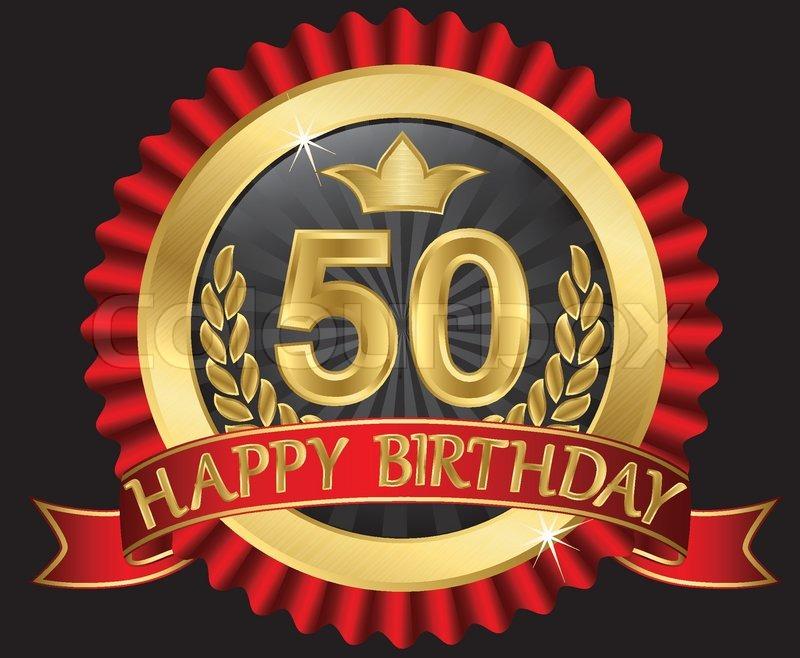 50 Years Happy Birthday Golden Label