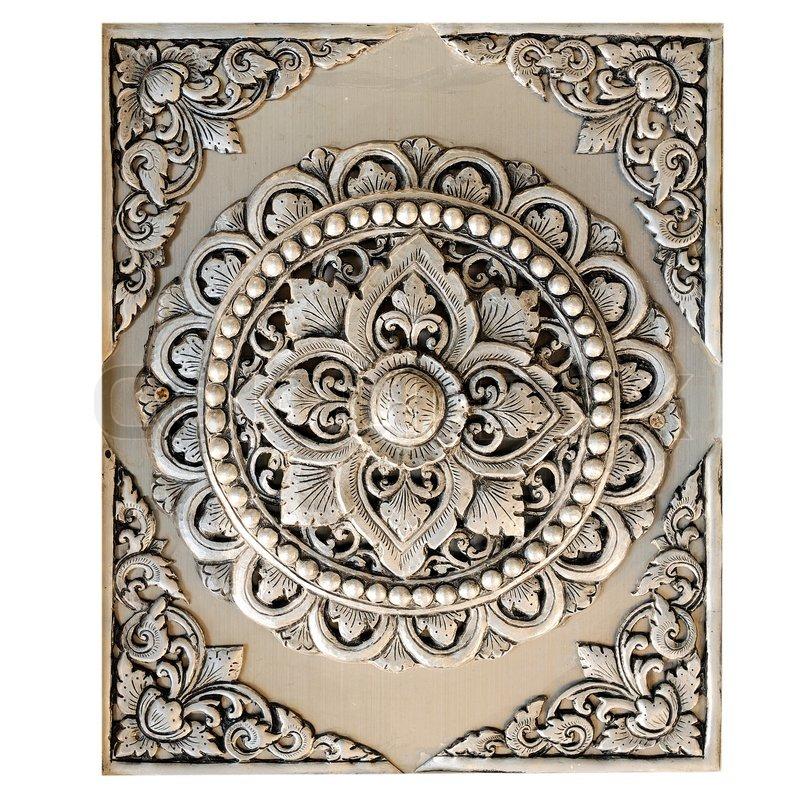 decorative art of lanna thai stock photo - Decorative Art