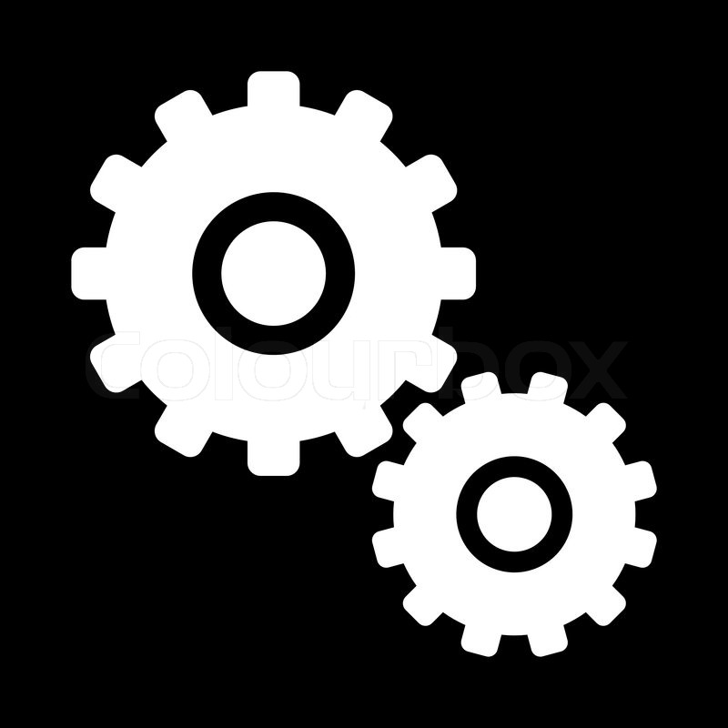 Wrench Black Vector Icon - zahnrad - schwa...