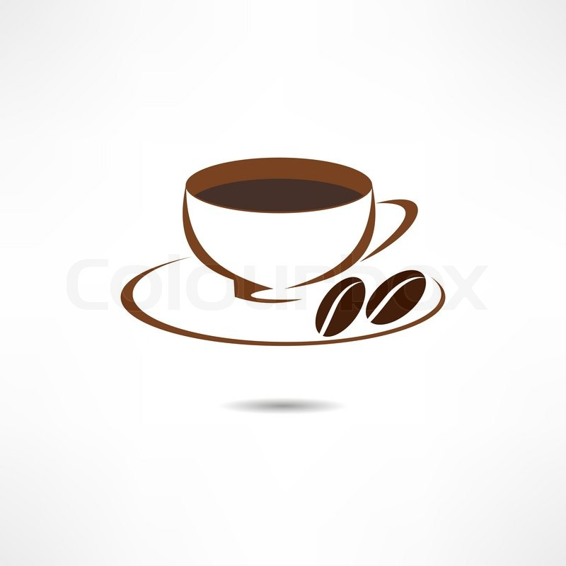 Eine Tasse Kaffee Icon Vektorgrafik Colourbox